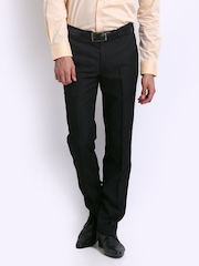 Park Avenue Men Black Super Slim Fit Formal Trousers
