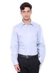 Park Avenue Men Blue & White Striped Formal Shirt