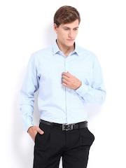 Park Avenue Men Blue & White Striped Slim Fit Formal Shirt