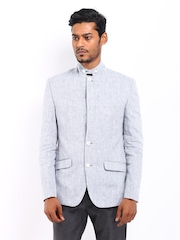 Park Avenue Men Blue Linen Blazer