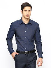 Park Avenue Men Navy Slim Fit Formal Shirt