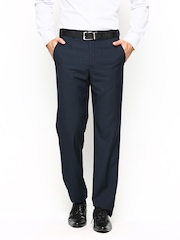 Park Avenue Men Navy Slim Fit Formal Trousers