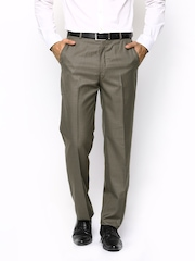 Park Avenue Men Brown Slim Fit Formal Trousers