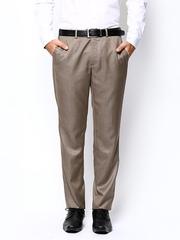 Park Avenue Men Brown Smart Fit Formal Trousers