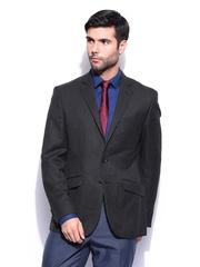 Park Avenue Men Charcoal Grey Super Slim Fit Wool Blend Blazer