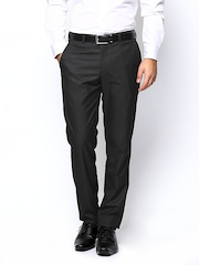 Park Avenue Men Dark Brown Smart Fit Formal Trousers