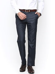 Park Avenue Men Grey Smart Fit Formal Trousers