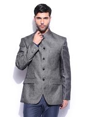 Park Avenue Men Grey Slim Fit Blazer