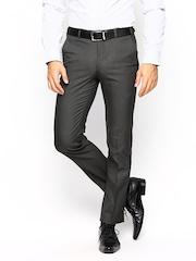 Park Avenue Men Grey Super Slim Fit Formal Trousers