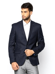 Park Avenue Men Navy Super Slim Fit Blazer
