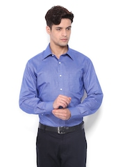 Park Avenue Men Blue & White Formal Shirt
