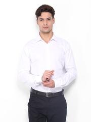 Park Avenue Men White Striped Slim Fit Formal Shirt
