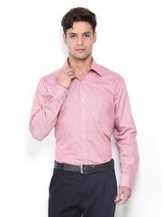 Park Avenue Men Red & White Striped Slim Fit Formal Shirt