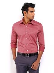 Park Avenue Men Red Slim Fit Formal Shirt