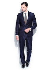 Park Avenue Navy Blue Single Breasted Super Slim Fit Suit