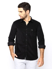 Parx Men Black Slim Fit Casual Shirt