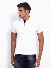Parx Men White Polo T-shirt