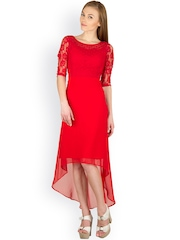 Peacot Red High Low Dress