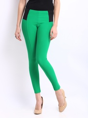 Peacot Women Green Treggings