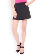 Peacot Black A-Line Mini Skirt