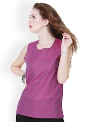 Pehraan Women Purple Kurti