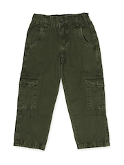 People Boys Olive Green Trousers