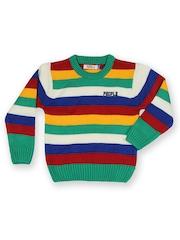 People Boys Multicoloured Striped Sweater