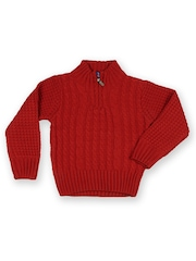People Little Rock Star Boys Rust Red Sweater