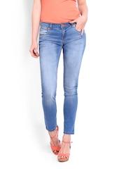 People Women Blue Skinny Fit Jeans