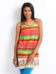 People Women Multi-Coloured Printed Kurti