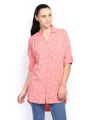People Women Pink Ditsy Print Tunic