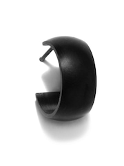 Peora Men Black Hoop Earring