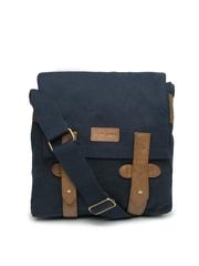 Pepe Jeans Men Navy Blue Messenger Bag