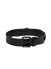 Pepe Jeans Men Black Leather Belt