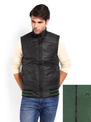 Pepe Jeans Men Black & Green Reversible Jacket