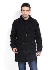 Pepe Jeans Men Black Wool Blend Jacket