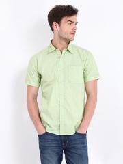 Pepe Jeans Men Green Semi Fit Casual Shirt