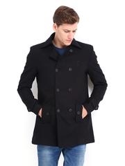 Pepe Jeans Men Black Wool Blend Jacket