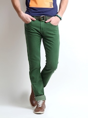Pepe Jeans Men Green Vapour Skinny Fit Jeans