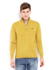 Pepe Jeans Men Mustard Yellow Sweater