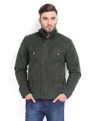 Pepe Jeans Men Olive Green Padded Jacket