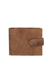 Pepe Jeans Men Tan Brown Leather Wallet
