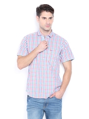 Pepe Jeans Men Multi-Coloured Checked Semi Fit Casual Shirt
