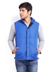 Pepe Jeans Men Blue Jasper Padded Sleeveless Jacket