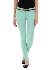 Pepe Jeans Women Mint Green Skinny Fit Jeggings