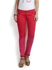 Pepe Jeans Women Red Frisky Slim Fit Jeans