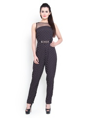 Pera Doce Women Black Printed Jumpsuit