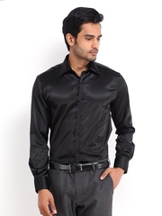 Peter England Men Black Slim Fit Semiformal Shirt