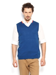 Peter England Men Blue Sweater