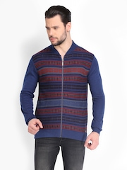 Peter England Men Blue Woollen Sweater